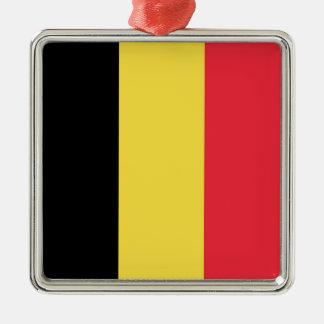 Flag of Belgium Silver-Colored Square Decoration