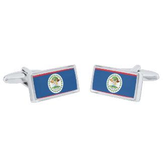 Flag of Belize Cufflinks Silver Finish Cufflinks