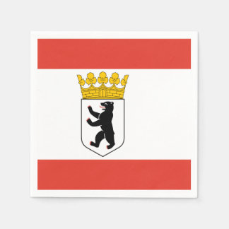 Flag of Berlin Disposable Napkin