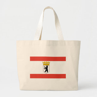 Flag_of_Berlin_ Large Tote Bag