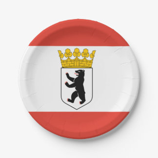 Flag of Berlin Paper Plate
