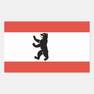 Flag of Berlin Rectangular Sticker