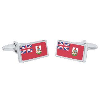 Flag of Bermuda Cufflinks Silver Finish Cuff Links