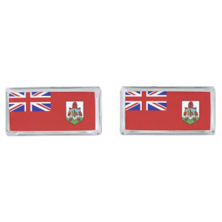 Flag of Bermuda Silver Finish Cuff Links