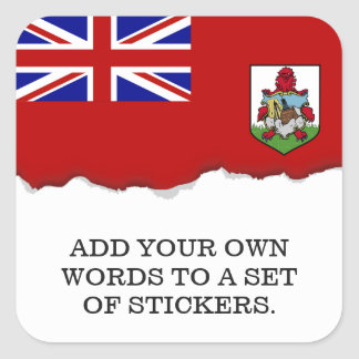 Flag of Bermuda Square Sticker