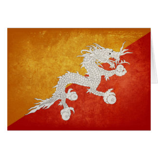 Flag of Bhutan Stationery Note Card