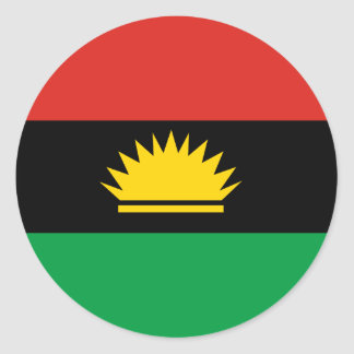 Flag of Biafra (Bịafra) Classic Round Sticker