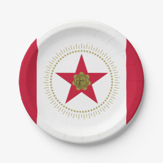 Flag of Birmingham, Alabama Paper Plate