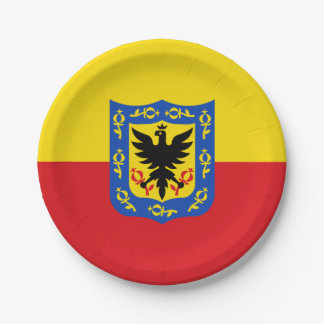 Flag of Bogota, Colombia Paper Plate
