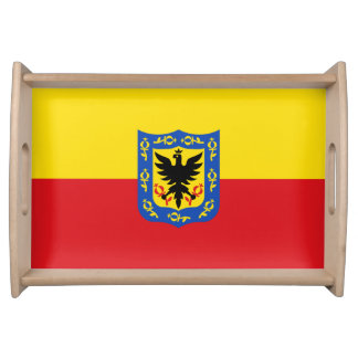 Flag of Bogota, Colombia Serving Tray