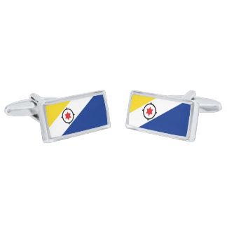 Flag of Bonaire Cufflinks Silver Finish Cufflinks