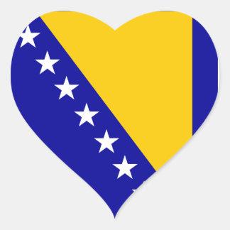 Flag of Bosnia and Herzegovina Heart Sticker