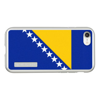 Flag of Bosnia and Herzegovina Silver iPhone Case
