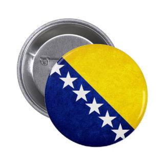 Flag of Bosnia Pinback Button