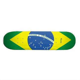Flag of Brazil 20 Cm Skateboard Deck