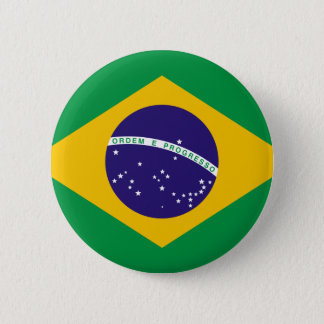 Flag of Brazil 6 Cm Round Badge