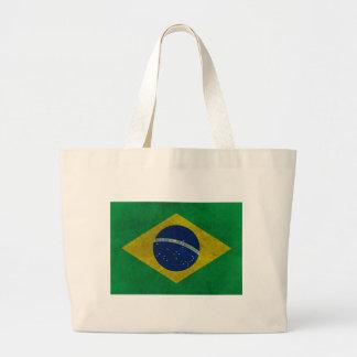Flag of Brazil (Aged Style) Jumbo Tote Bag