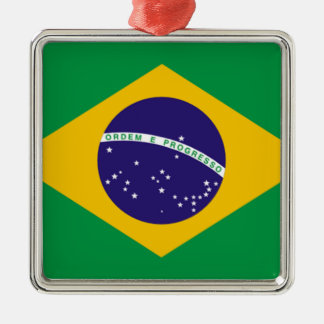 Flag of Brazil Metal Ornament
