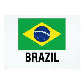 fLAG OF bRAZIL OUTLINE Card