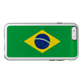 Flag of Brazil Silver iPhone Case Incipio Feather® Shine iPhone 6 Case