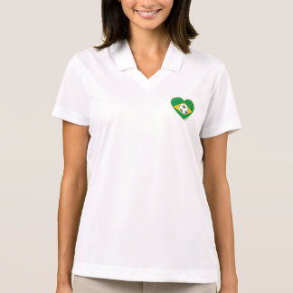 Flag of BRAZIL SOCCER of the world national team Polo Shirts