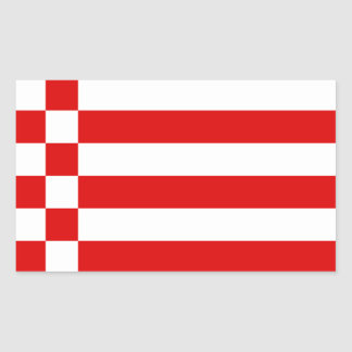 Flag of Bremen Rectangular Sticker