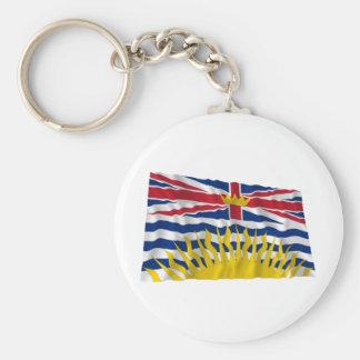 Flag of British Columbia, Canada Basic Round Button Key Ring