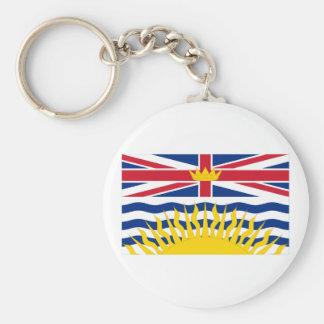Flag of British Columbia, Canada Keychain