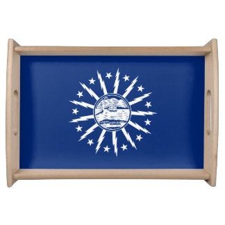 Flag of Buffalo, New York Serving Tray