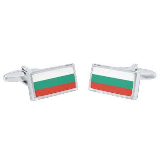 Flag of Bulgaria Cufflinks Silver Finish Cufflinks