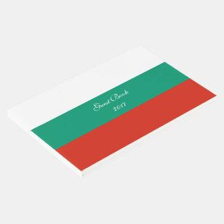 Flag of Bulgaria or Bulgarian Guest Book