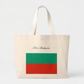 Flag of Bulgaria or Bulgarian Large Tote Bag