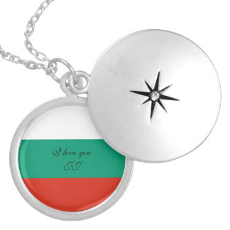 Flag of Bulgaria or Bulgarian Locket Necklace