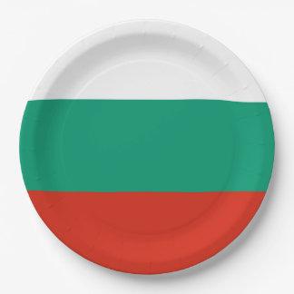 Flag of Bulgaria or Bulgarian Paper Plate