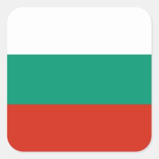 Flag of Bulgaria or Bulgarian Square Sticker