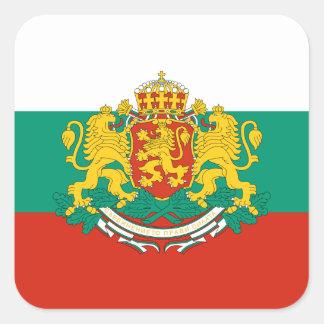 Flag of Bulgaria Tricolour White Green Red Square Sticker
