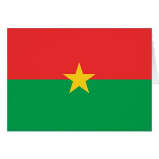 Flag of Burkina Faso - Drapeau du Burkina Faso Card
