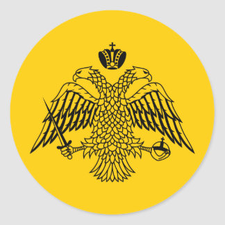 Flag of Byzantine Classic Round Sticker