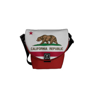 Flag of California, American state flag Commuter Bag