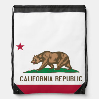 Flag of California Drawstring Bag