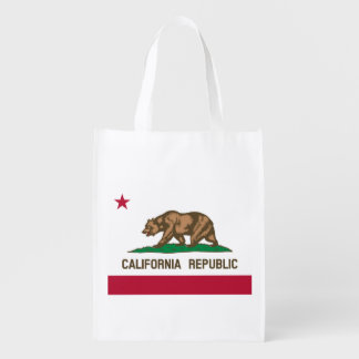 Flag of California Republic Reusable Grocery Bag