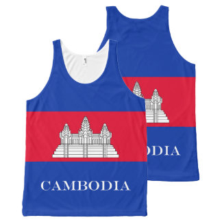 Flag of Cambodia All-Over Print Singlet