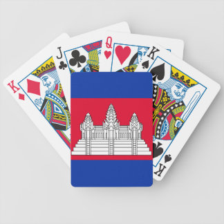 Flag of Cambodia Bicycle Playing Cards
