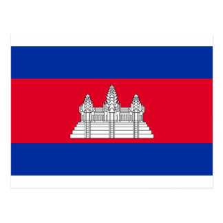 Flag of Cambodia - Cambodian Flag Postcard