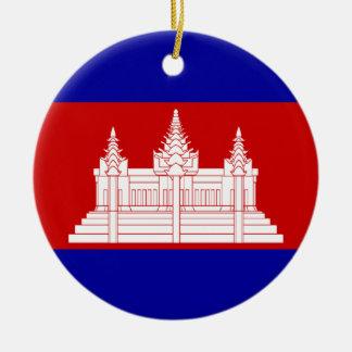 flag of cambodia ceramic ornament