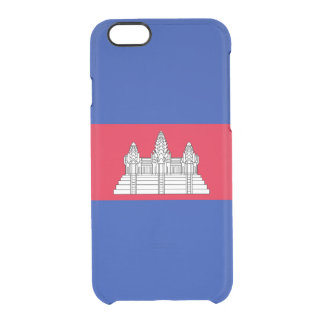 Flag of Cambodia Clear iPhone Case