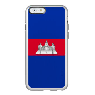Flag of Cambodia Silver iPhone Case Incipio Feather® Shine iPhone 6 Case
