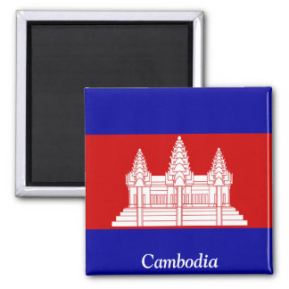 Flag of Cambodia Square Magnet