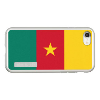 Flag of Cameroon Silver iPhone Case