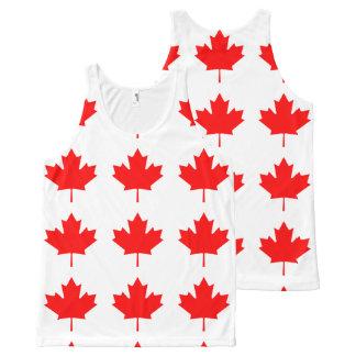 Flag of Canada, Drapeau du Canada All-Over Print Singlet